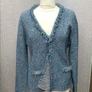 Escada tweet sweater blazer size xl